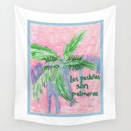 La pestañas son palmeras Wall Tapestry