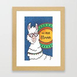 No Prob Llama Framed Art Print
