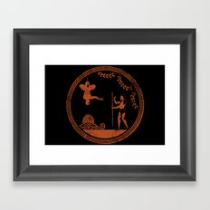 Greek style Spiderman Framed Art Print