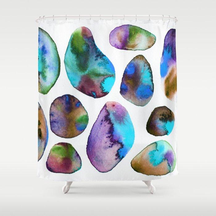 Auras (blue) Shower Curtain