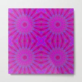 Pinwheel Flowers Fuchsia Pink Purple Violet Metal Print