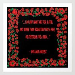Art For A Few William Morris Art Print
