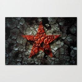 Red Star Of Chernobyl Canvas Print