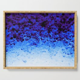 Indigo Blue Crystal Ombre Serving Tray