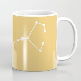 Scorpio Zodiac Constellation - Golden Yellow Coffee Mug