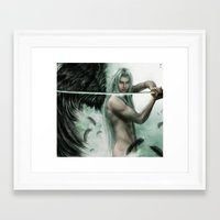 general Framed Art Prints featuring General Sephiroth by K.Koji