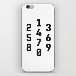 Typography Numbers #2 iPhone Skin