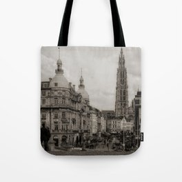 Watching the Cathedral Tote Bag