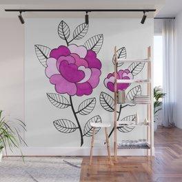Rosette Mauve Wall Mural
