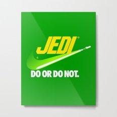 Brand Wars: Jedi - green lightsaber Metal Print