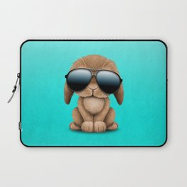 Cute Baby Bunny Wearing Sunglasses Laptop Sleeve
