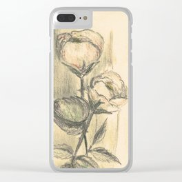 Mom's Flowers Clear iPhone Case