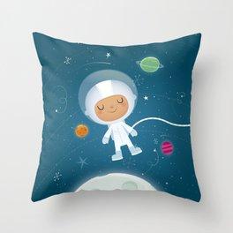 Little Astronaut Throw Pillow