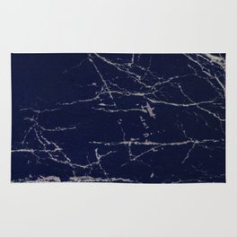 Blue Marble Crease Texture Design Rug