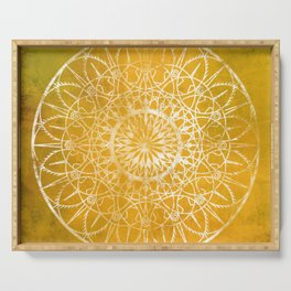 Fire Blossom - Yellow Serving Tray