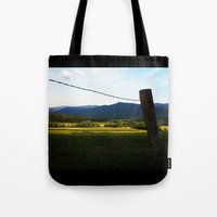 rustic Tote Bags featuring Rustic by Blue Lightning Creative