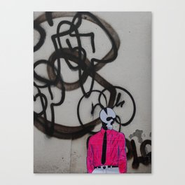 scratchy skull Canvas Print