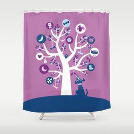 Tree of dreams Shower Curtain