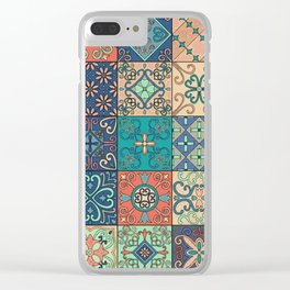 Arabic tile pattern Clear iPhone Case