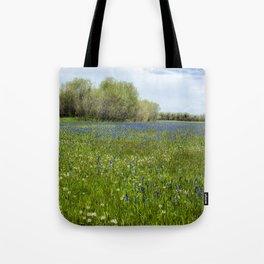 Field of Camas and Dandelions, No. 1 Tote Bag