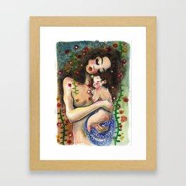 Klimt5: Mother and Child Framed Art Print