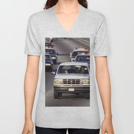 OJ Simpson Car Chase Unisex V-Neck