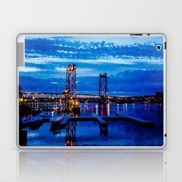 Night Bridge Lights Laptop & iPad Skin