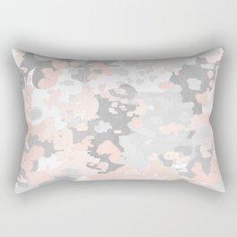 camo pink and grey abstract brushstrokes modern canvas art decor dorm college Rectangular Pillow