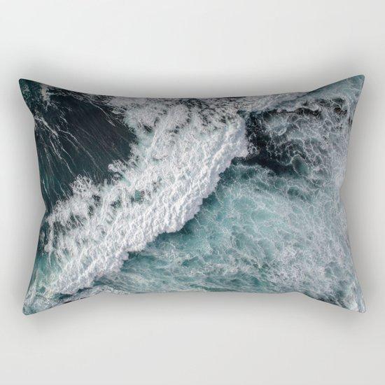 Ocean Wrath Rectangular Pillow