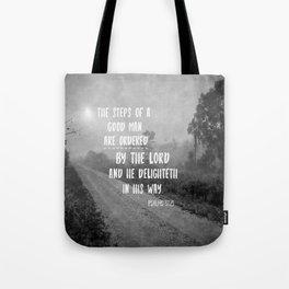 Steps of a Good Man Bible Verse Tote Bag