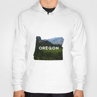 oregon Hoodies featuring Oregon by Hillary Murphy