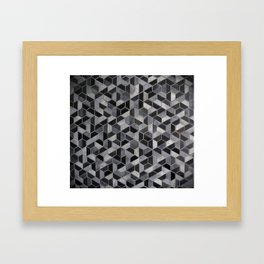 Dark Honeycomb Framed Art Print