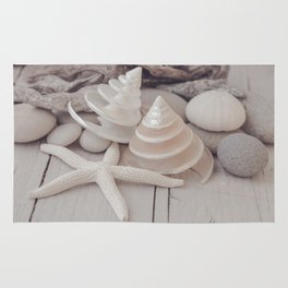Beach Still Life With Shells And Starfish Rug