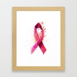 Breast Cancer Ribbon Framed Art Print