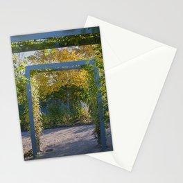 Blue pergola in autumn Stationery Cards