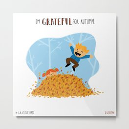 Grateful for Autumn Metal Print