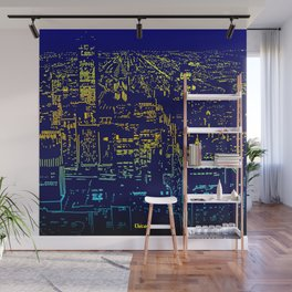 Chicago city lights at night Wall Mural