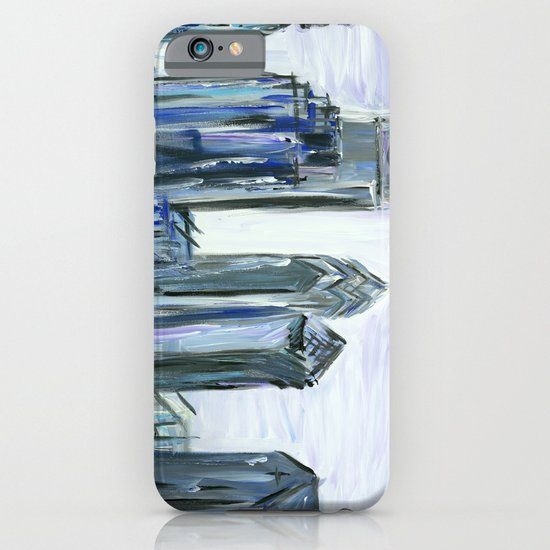 Gray Philadelphia Skyline iPhone & iPod Case