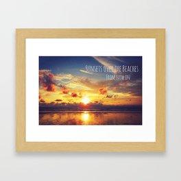 Sunsets Over The Beaches Framed Art Print