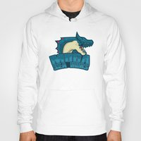monster hunter Hoodies featuring Monster Hunter All Stars - Moga Sea Dogs by Bleached ink