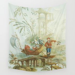 Light Green & Red Chinoiserie Wall Tapestry