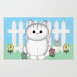 White Cat Rug
