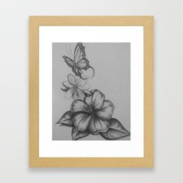 The flight of the butterfly Framed Art Print