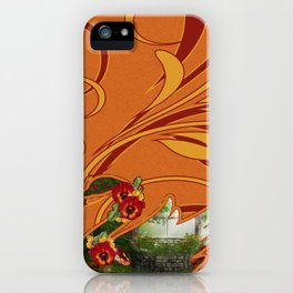 Tropical Swan iPhone Case