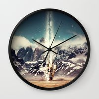 gravity Wall Clocks featuring Gravity by James McKenzie