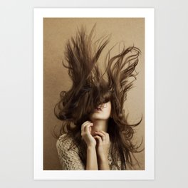 Flying hair Art Print