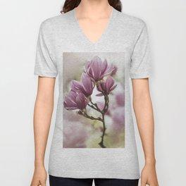 Pink soulange magnolia Unisex V-Neck
