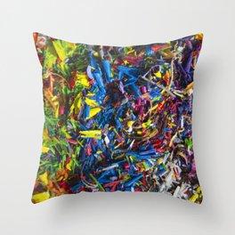 Crayon Shavings Throw Pillow
