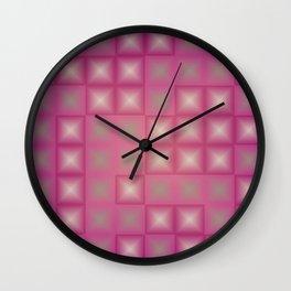Fuchsia pyramids Wall Clock