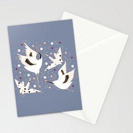 Origami Crane Metamorphosis (Blue) Stationery Cards